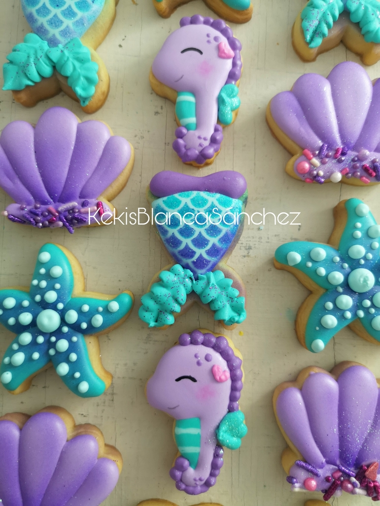 Mermaid Mini Cookies