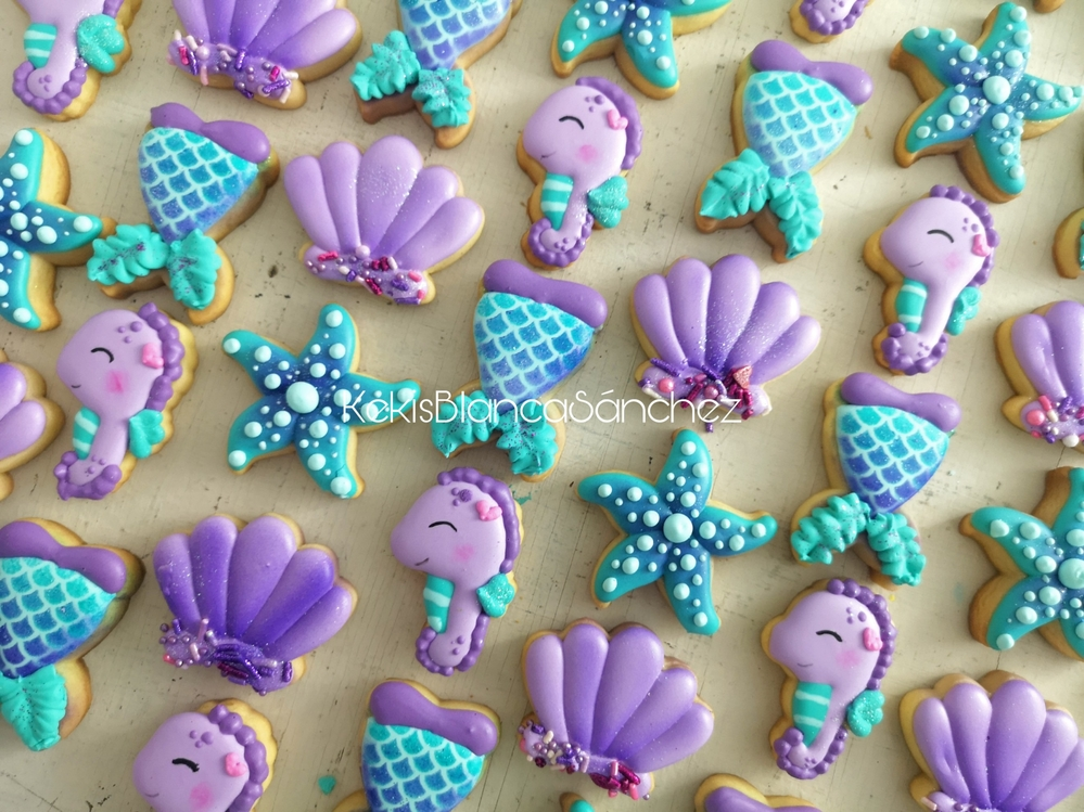 Mermaid Mini Cookies