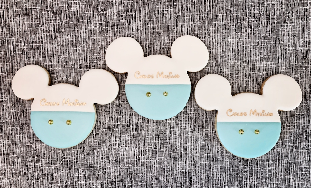 Mickey Mouse Themed christening cookies