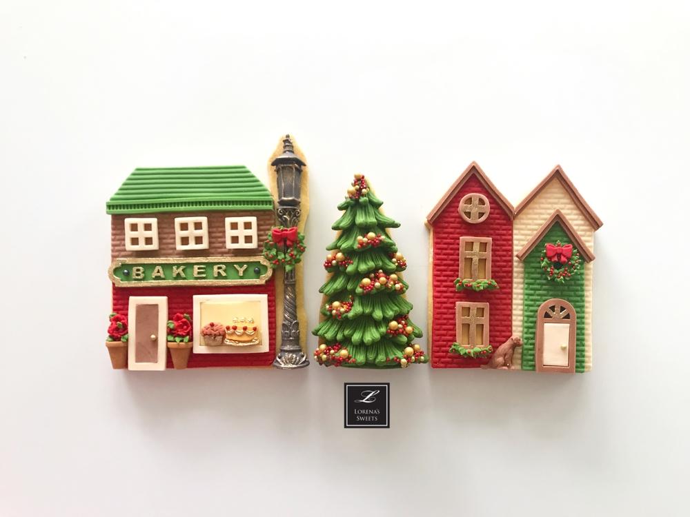 Christmas Village Cookies. Lorena Rodríguez