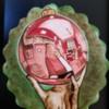 Santa Claus' Reflection on Christmas Ornament