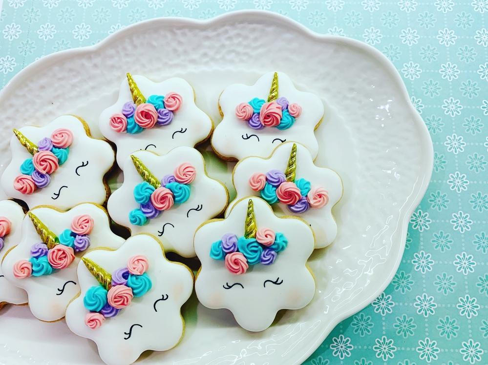 Unicorn Baby Shower Cookies