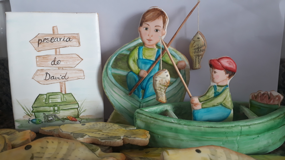 Fishing Boy Cookies