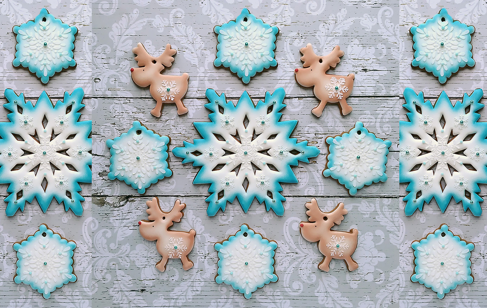 Snowflakes and Reindeer (For Site Background)