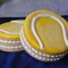 3D Tennis Ball Cookies filled with mini M&Ms
