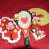Tennis Themed Valentines Cookies