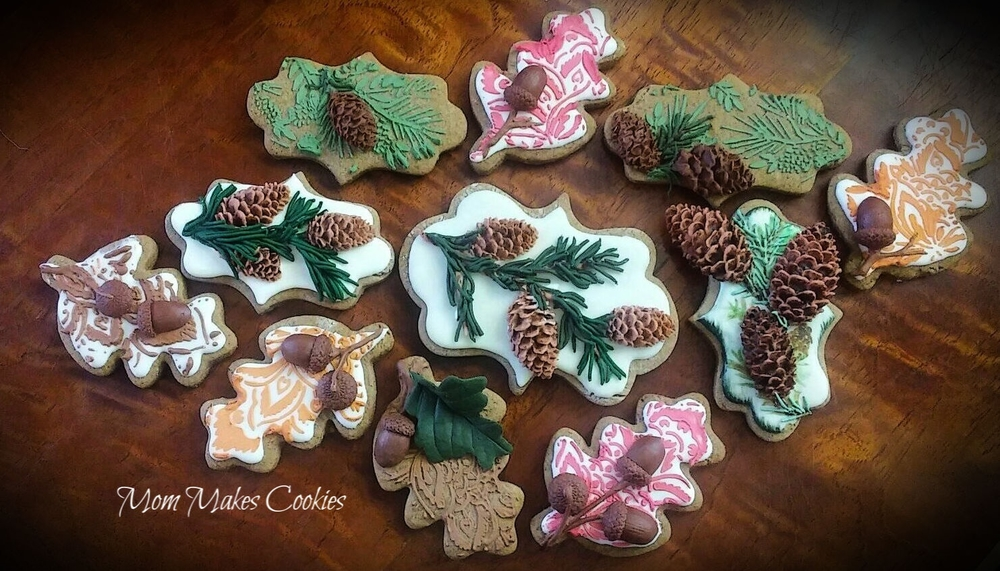Fall Pine Cones and Acorns