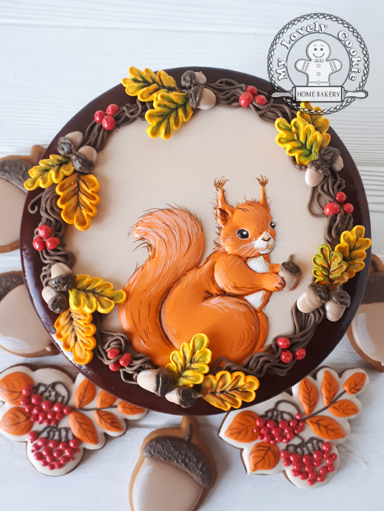 """Autumn"" Gingerbread Box"