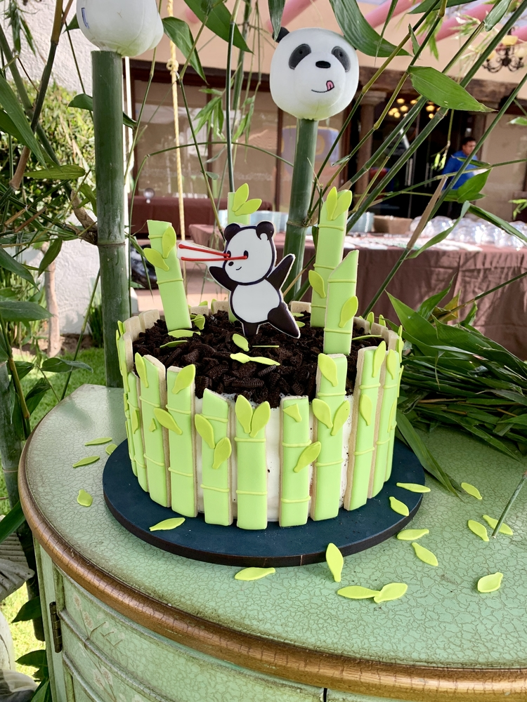 Panda themed cookie toppers