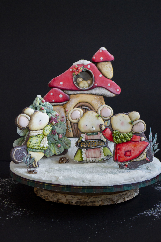 Christmas Cookie Display