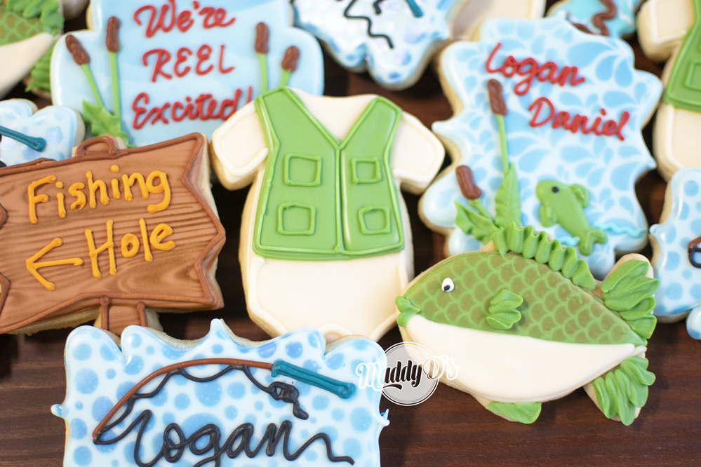 Fishing Baby Cookies