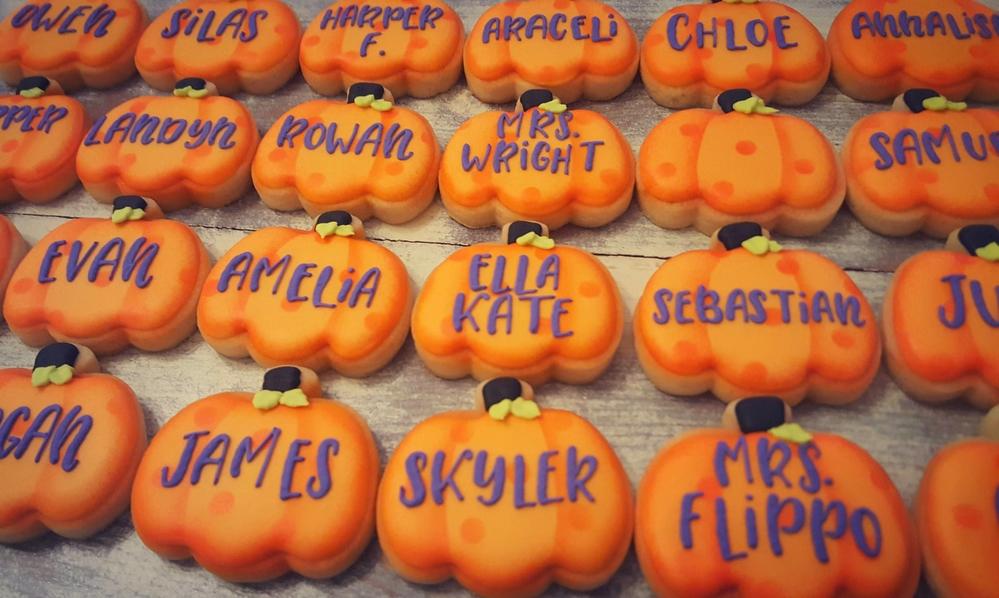 Halloween Class Cookies