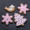 Christmas cookies - bird, snowflakes and Christmas tree