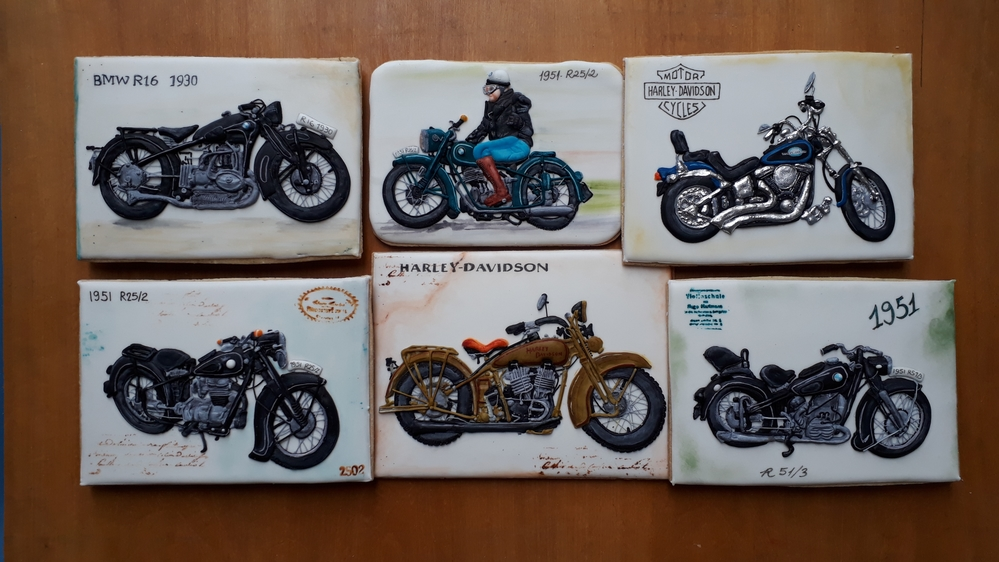 Vintage Motocycle Cookies
