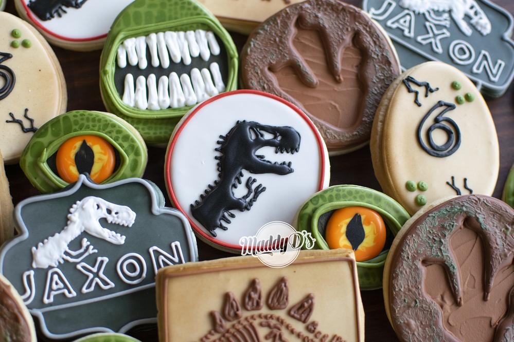 Dinosaur Theme Birthday Cookies