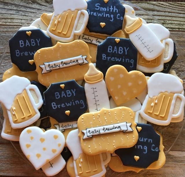 Couples Baby Shower - Baby Brewing Platter