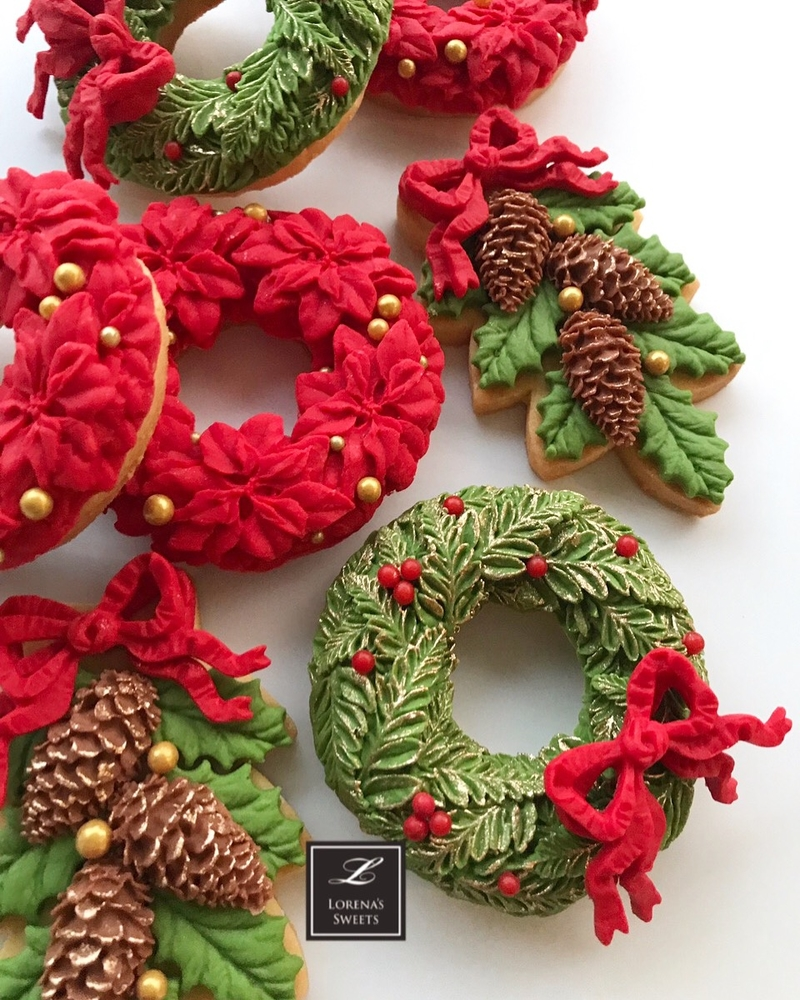 Christmas Ornament cookies. Lorena Rodríguez