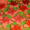 many Poinsettia cookies: icingsugarkeks