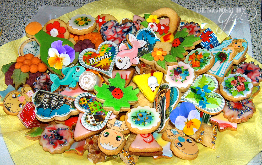 """Danke - Thank you"" cookie platter"