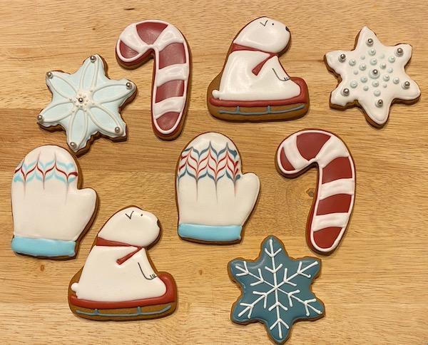 Sledding Polar Bear Christmas