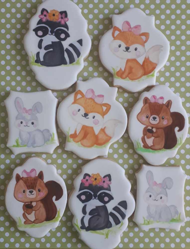 Woodland Creatures Cookies