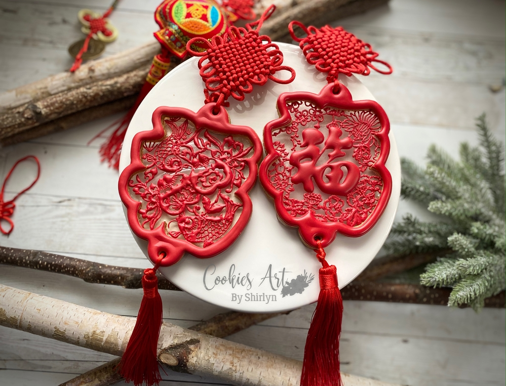 Chinese New Year Cookie with Fortune Tassel
