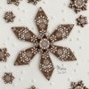 Embossed and Decorated Snowflake Cookie: Cookie, Design and Photo by Manu