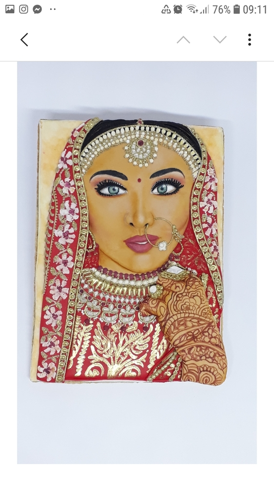 3D Indian Bride Cookie