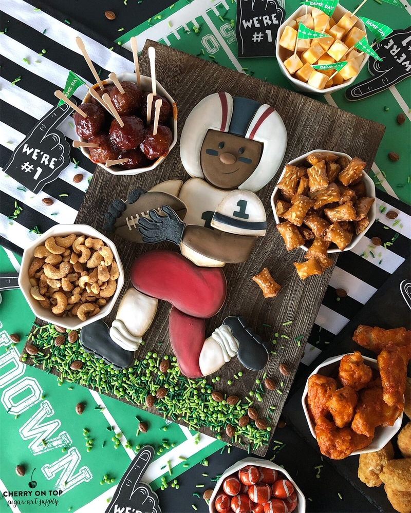 Football Player Platter