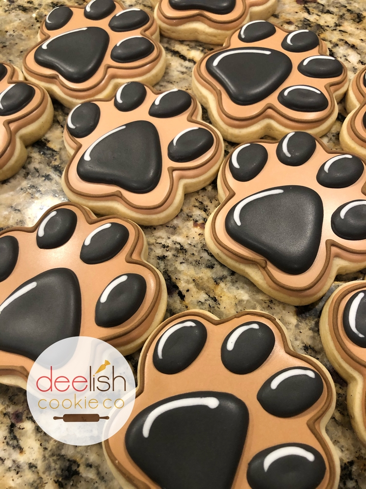 Dog paw cookies