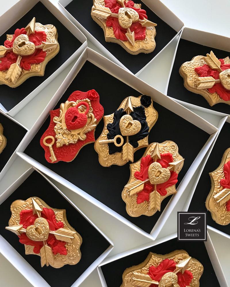 Lorena Rodríguez. Heart lock cookies