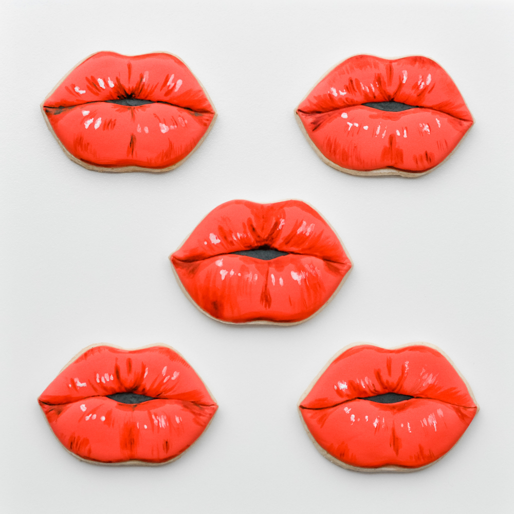 Hand painted Sexy Lips cookies