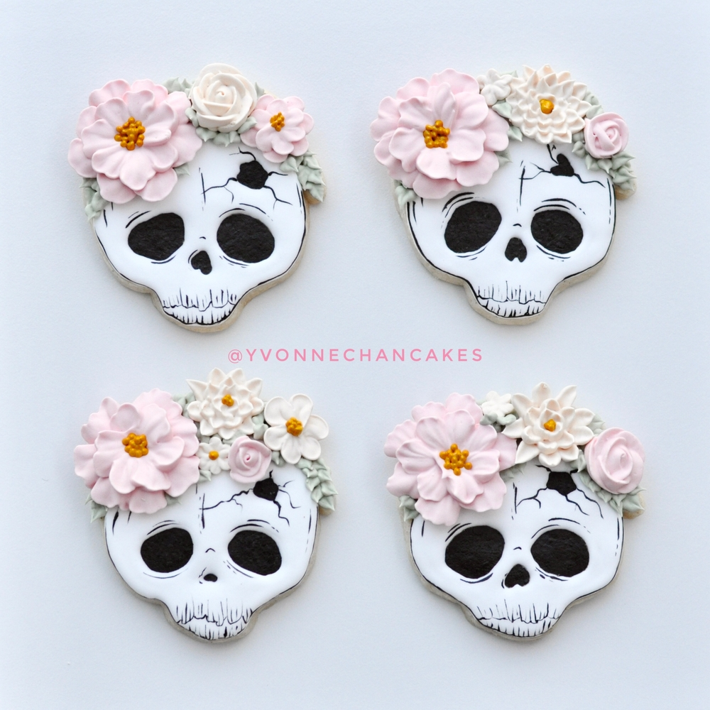Sugar Skulls with Flower Crowns!
