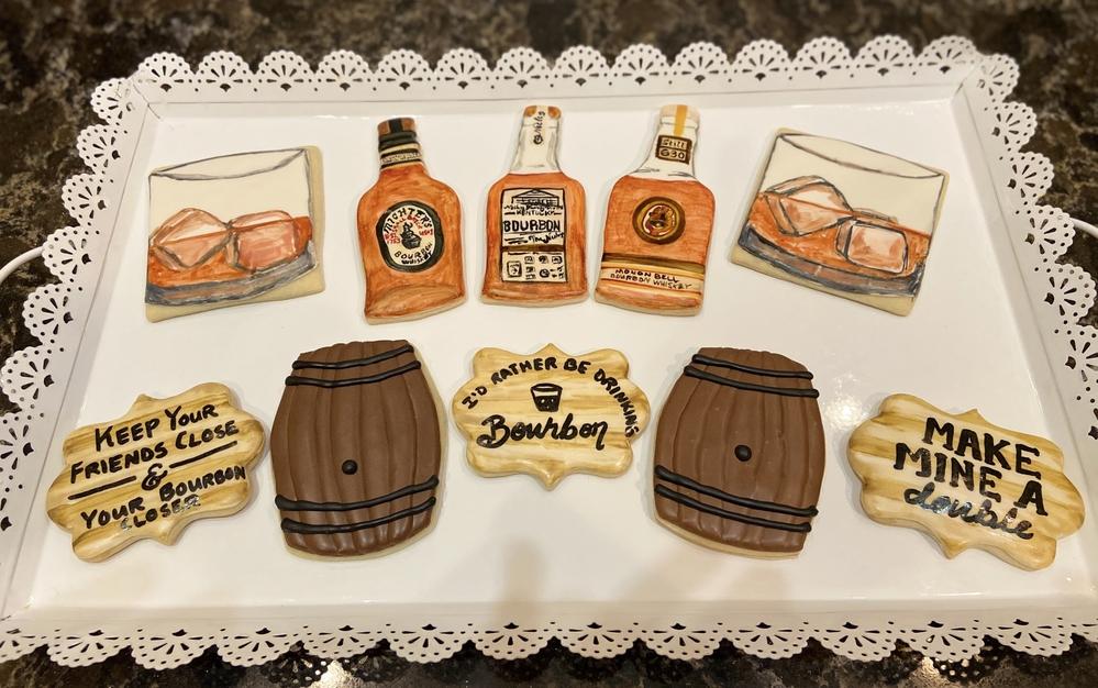 Bourbon Themed Cookies