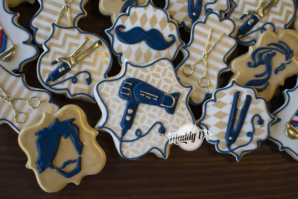 Barber Salon Cookies