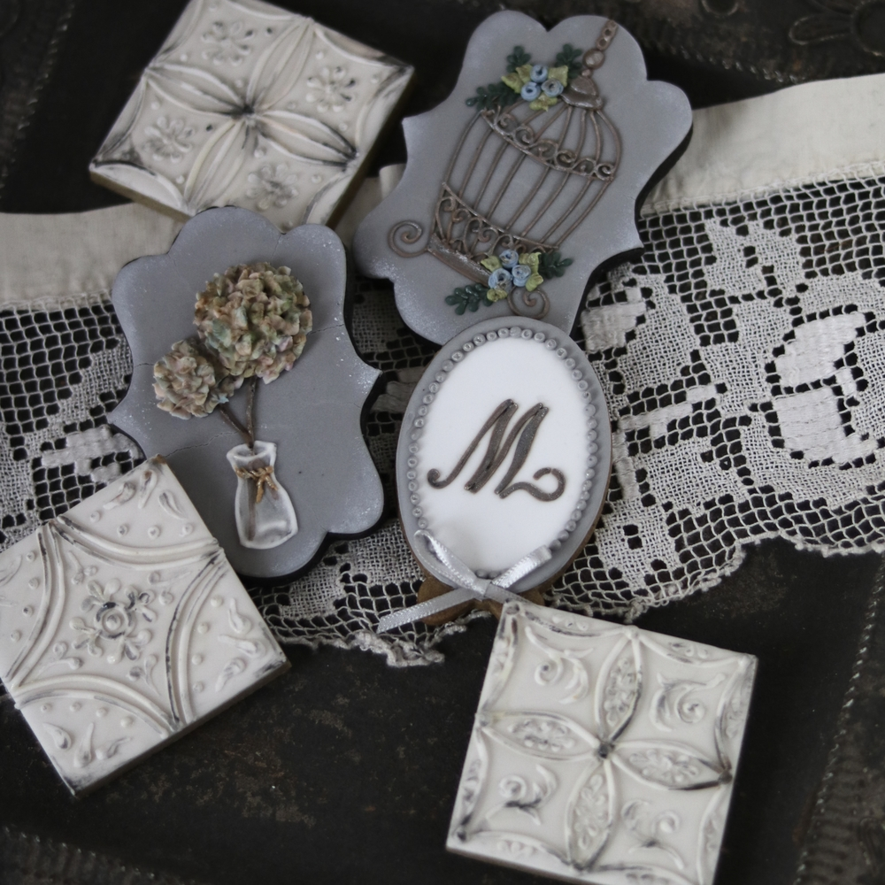 shabby chic style cookies
