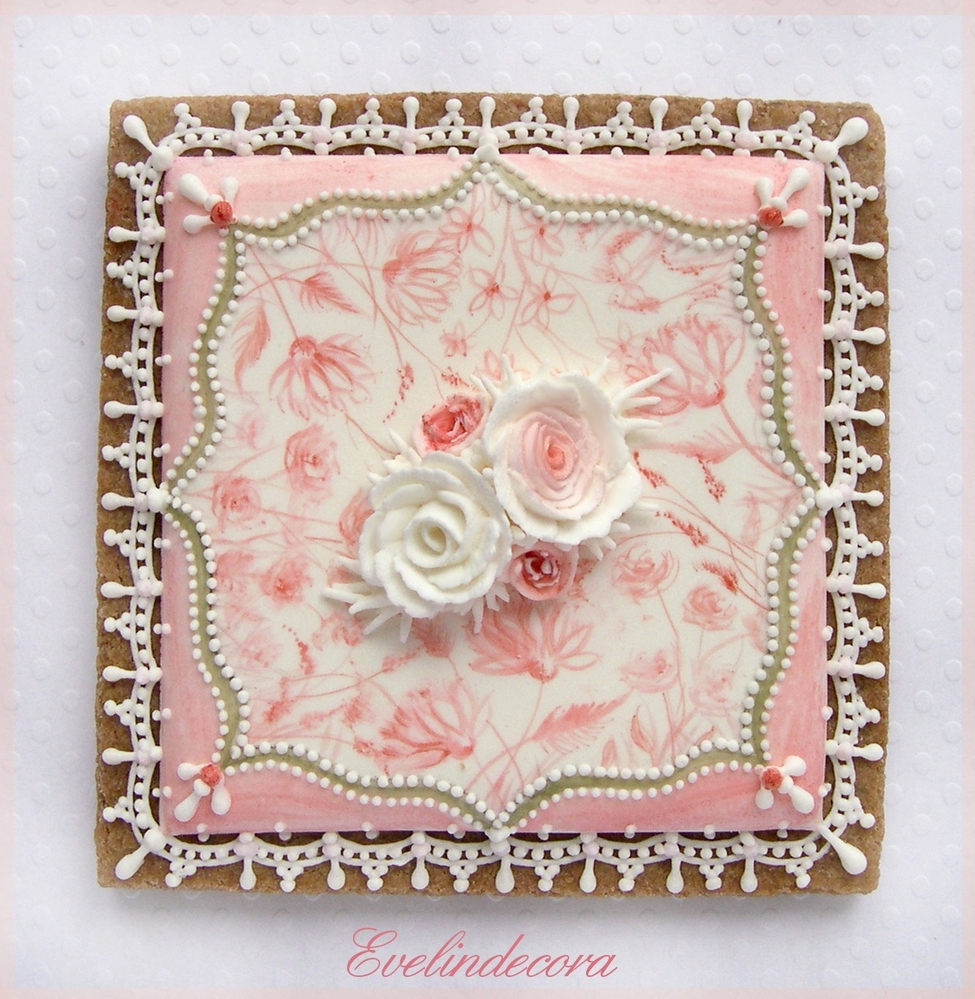 Roses and Lace Cookie