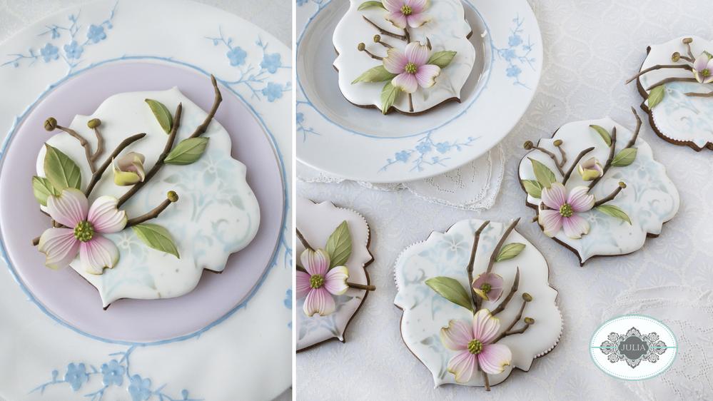 Dogwood Cookies by Julia M Usher
