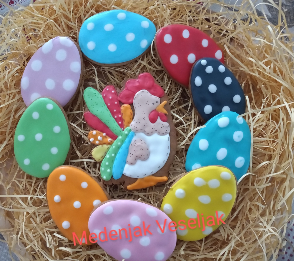 Easter Eggs and Hen