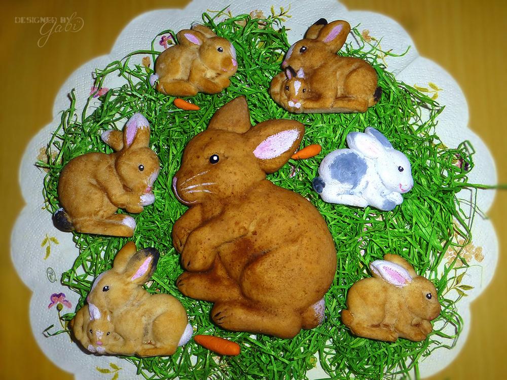 Springerle Easter Bunny Cookies