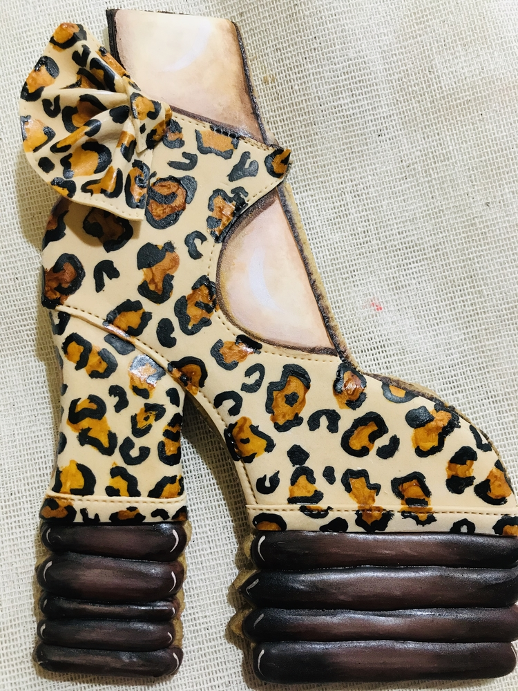 Zapatilla in Animal Print