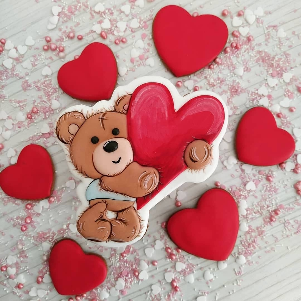 Valentine's Bear with Big Heart