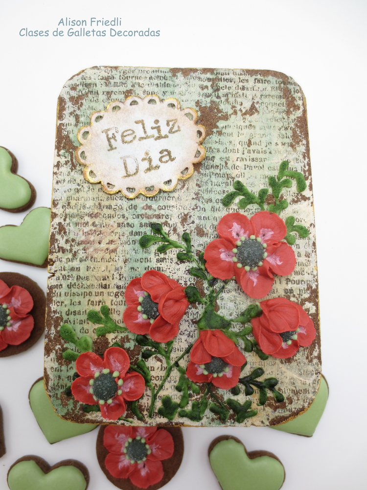 Poppies for Mum Cookie Box (Top Down View)