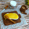 honey bread with coffee without flash: icingsugarkeks
