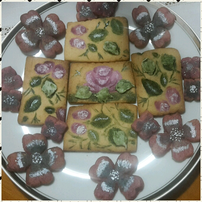 Painted Flowers Cookies