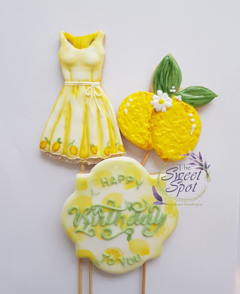 Yellow Dress Cookie