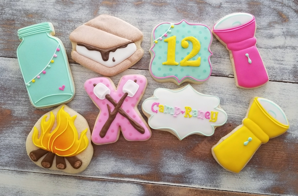 Camping Birthday Cookies