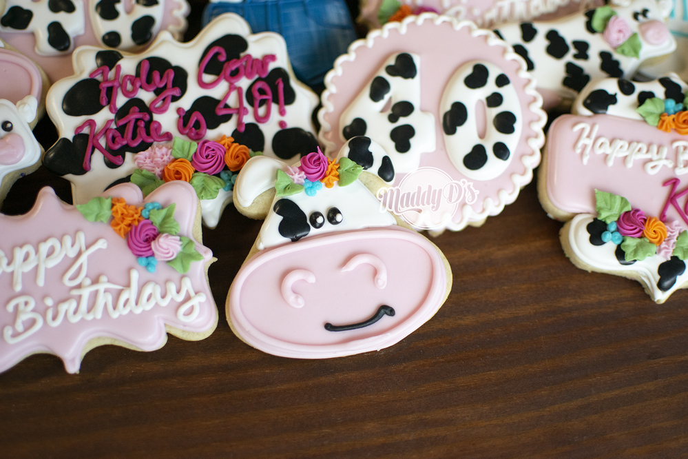 Cow Birthday Cookies
