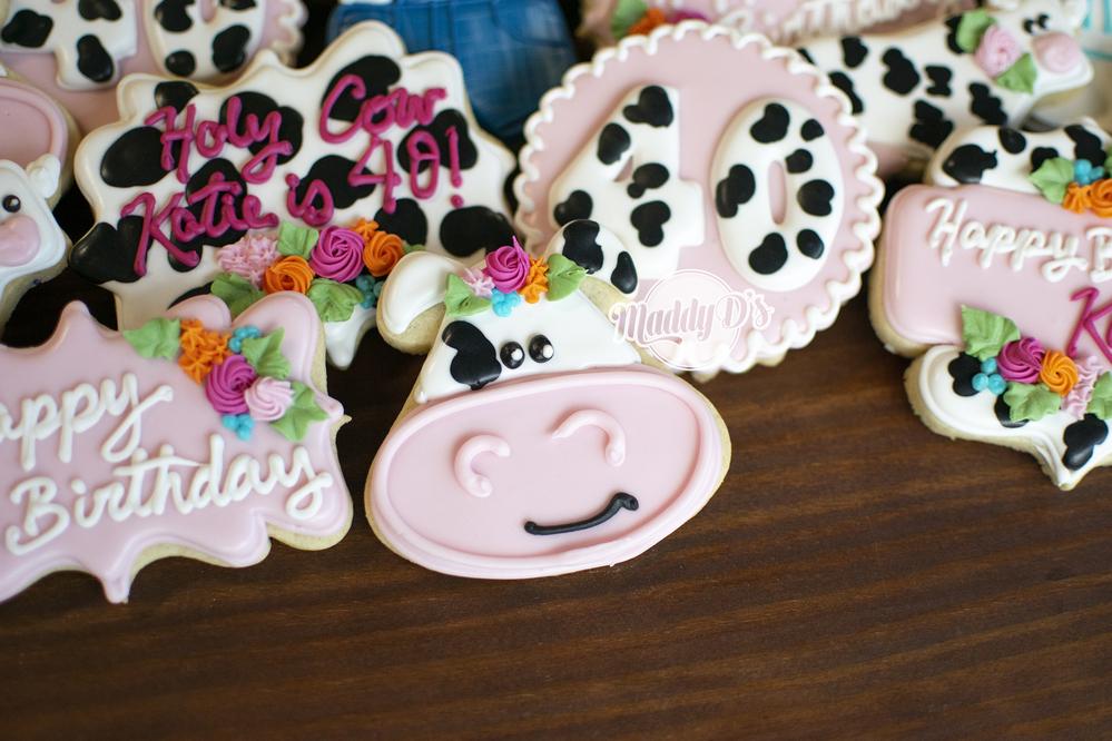 Cow Birthday Cookies