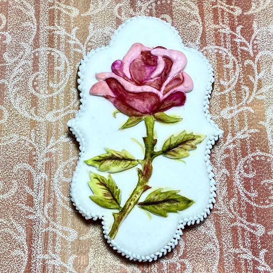 Dimensional Rose Cookie